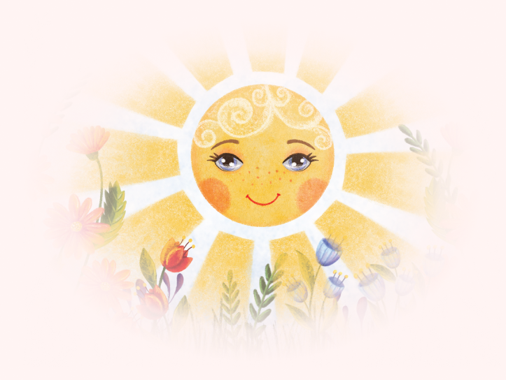 Sun Illustration from Childrens Book Love Rays
