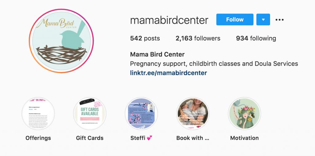 Mamabirdcenter Instagram Account - Lamaze Resource
